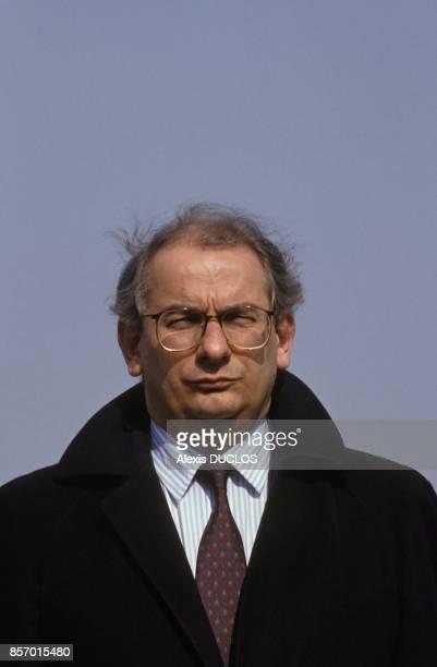 Michel Delabarre au 75 anniversaire de la bataille de Vimy le 9 avril 1992 a Vimy France