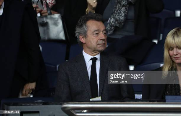 Michel Denisot attend the Ligue 1 match between Paris Saint Germain and AS Monaco at Parc des Princes on April 15 2018 in Paris