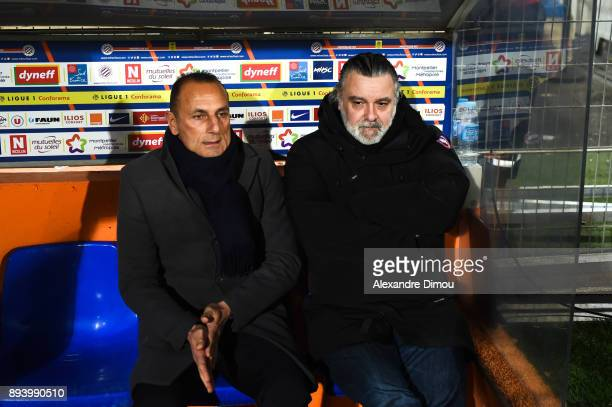 Michel Der Zakarian Coach and Laurent Nicollin President of Montpellier during the Ligue 1 match between Montpellier Herault SC and Metz at Stade de...