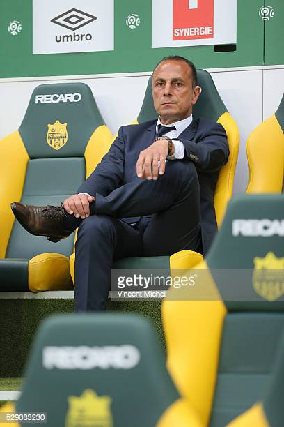 Michel Der Zakarian headcoach of Nantes during the Football french Ligue 1 match between FC Nantes and SM Caen at Stade de la Beaujoire on May 7 2016...