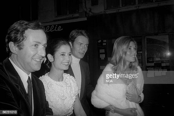 Michel Drach director MarieJose Nat and Jacques Charrier French actors Paris years 1960 HA21792