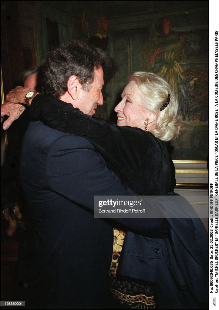 Michel Drucker And Danielle Darrieux Preview Of The Play Oscar Et News Photo Getty Images