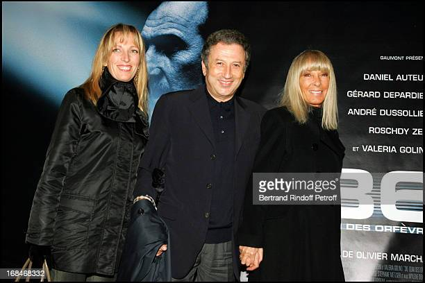 Michel Drucker Dany Saval and daughter Stephanie at Film Premiere Of '36 Quai Des Orfevres' At PatheWepler in Paris