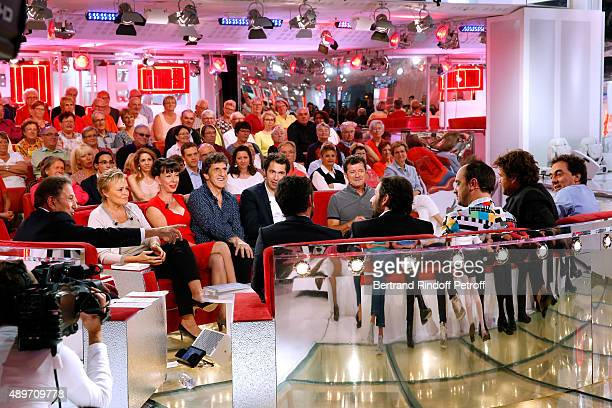 Michel Drucker Main Guest of the Show Humorist Muriel Robin Humorist Shirley et Dino alias Gilles Benizio and his wife Corinne and Guests attend the...
