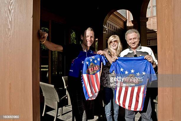 Michel DRUCKER part in the meeting of Lance Armstrong who has been training in Aspen Colorado before participating in the Tour de France 2009 plan of...