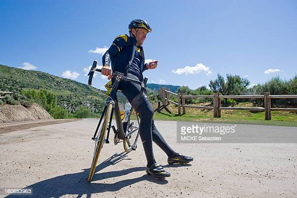 Michel DRUCKER part in the meeting of Lance Armstrong who has been training in Aspen Colorado before participating in the 2009 Tour de France...