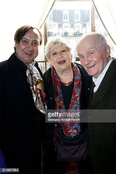 Michel Fau actor and stage director of 'Un amour qui ne finit pas' and 'Fleur de cactus' who receives the 'Prix du Brigadier 2015' with his Former...