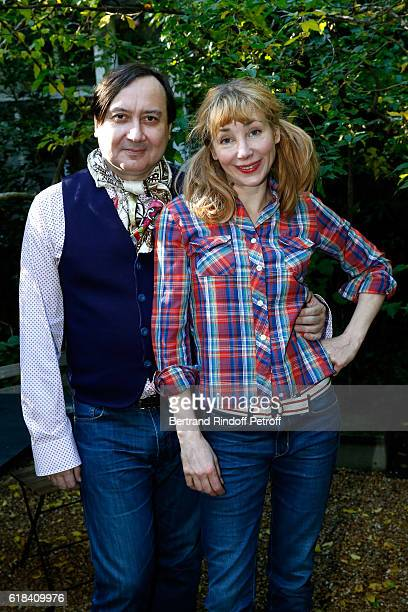 Michel Fau and Julie Depardieu attend the Brassens Behind the Scenes and Press Junket on October 17 2016 in Paris France