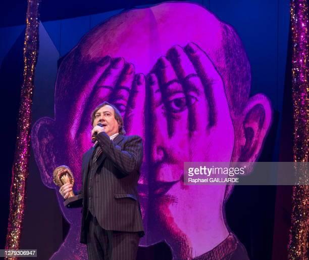 Michel Fau lors de la remise des Topor d'Or 2018, événement conçu et réalisé par Jean Michel Ribes, prix de l'inattendu du spectacle vivant au...
