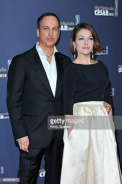 Michel Ferracci and Emilie Dequenne attend the 40th Cesar Film Awards at Theatre du Chatelet on February 20, 2015 in Paris, France.