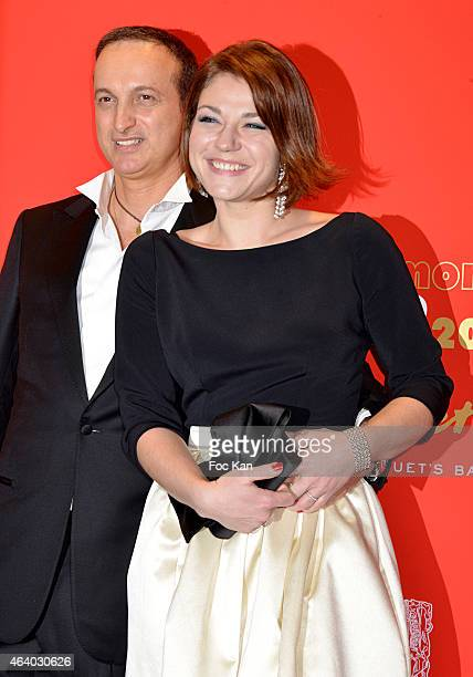 Michel Ferracci and Emilie Dequenne attend the Dinner at Le Fouquet's after the Cesar Film Awards 2015 on February 20, 2015 in Paris, France.