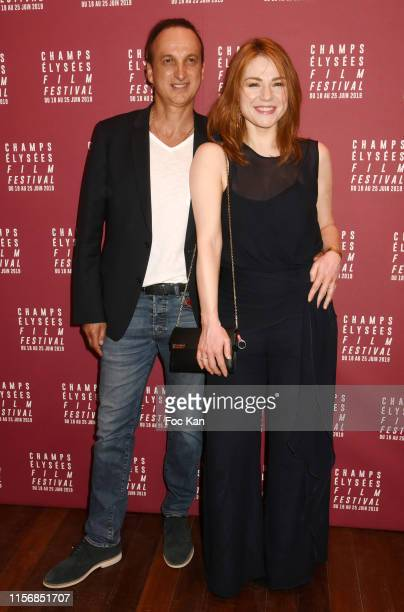 Michel Ferracci and Emilie Dequenne attends the 8th Champs Elysees Film Festival the 8th Champs Elysees Film Festival Opening Ceremony at Cinema...