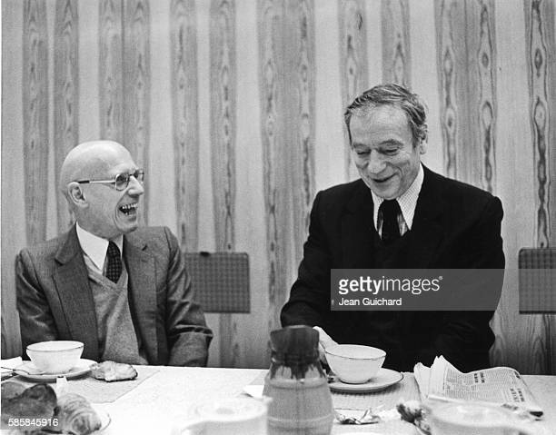 Michel Foucault and Yves Montand