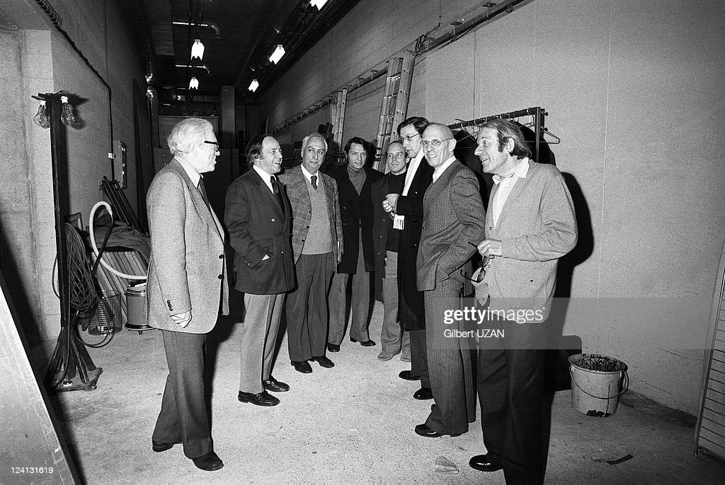 Michel Foucault, Roland Barthes And Pierre Boulez In Paris, France On February 23, 1978. : News Photo