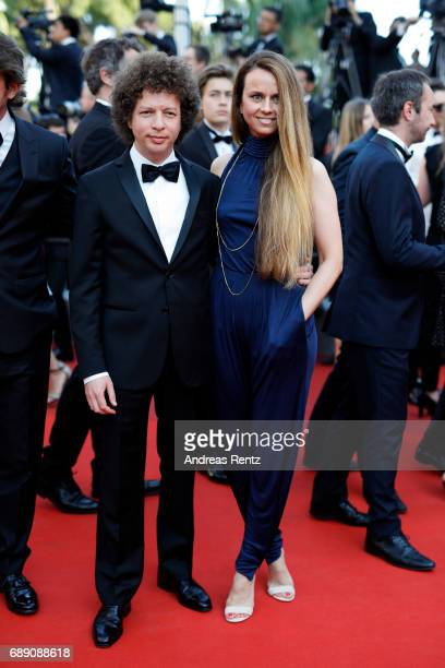 Michel Franco and a guest attend the 'Based On A True Story' screening during the 70th annual Cannes Film Festival at Palais des Festivals on May 27...