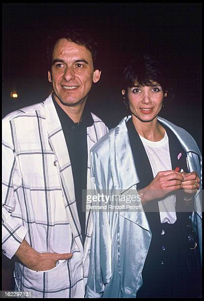 Michel Fugain and his wife Stephanie at Kean dress rehearsal Theatre de Marigny Paris 1987