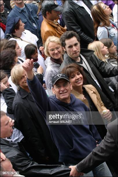Michel Fugain and wife Stephanie