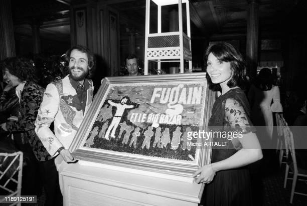 Michel Fugain et sa femme Stéphanie célèbrent la 1ère du chanteur à l'Olympia de Paris le 7 avril 196 France
