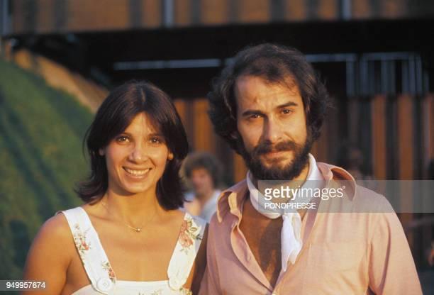 Michel Fugain et son épouse Stéphanie circa 1970 au Canada