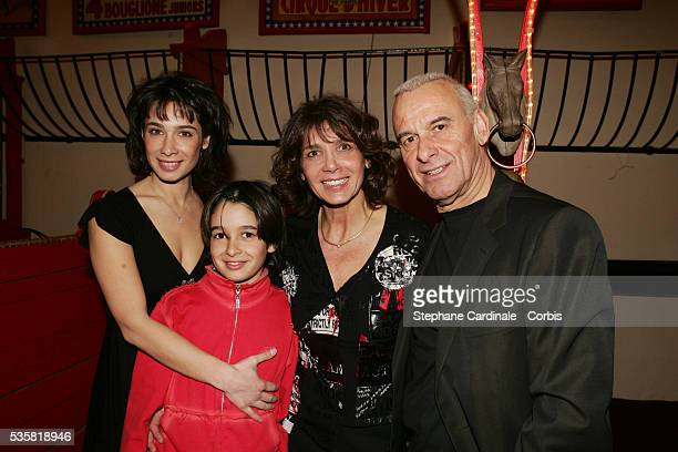 Michel Fugain his sife Stephanie and children Alexis and Marie attend the 2005 Gala du Ring organised by the First Round association at the Cirque...