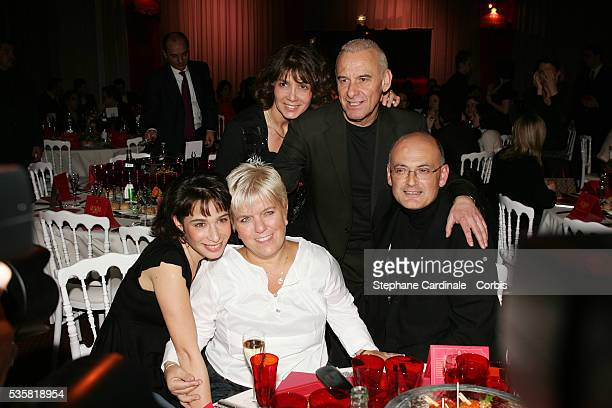 Michel Fugain, his wife Stephanie, daughter Marie Fugain, Mimie Mathy and partner attend the 2005 Gala du Ring organised by the First Round...