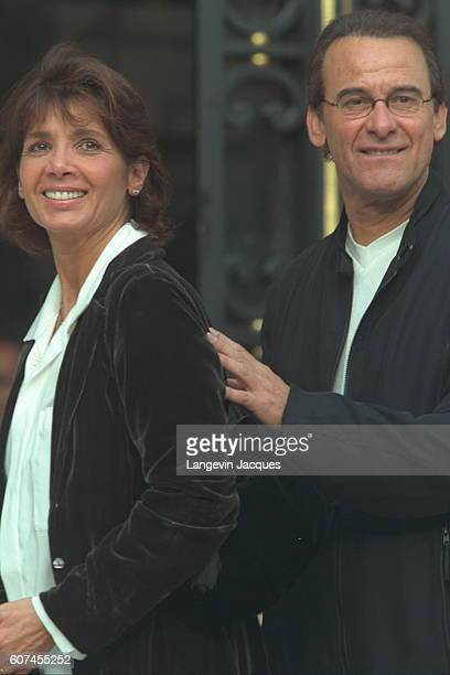 Michel Fugain with his wife Stéphanie.