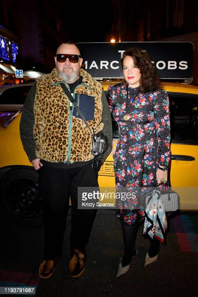 Michel Gaubert and Olympia Le-Tan attend THE MARC JACOBS opening party in Paris hosted by Michel Gaubert and Olympia Le Tan on December 13, 2019 in...