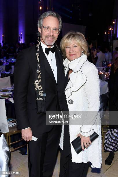 Michel Gill and Jayne Atkinson attend the 14th Annual UNICEF Snowflake Ball 2018 on November 27 2018 in New York City