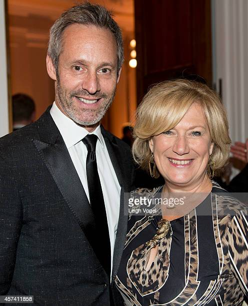 Michel Gill and Jayne Atkinson attend the 46th Annual Meridian Ball at Meridian International Center on October 17 2014 in Washington DC