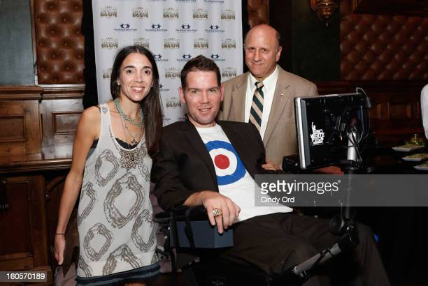 Michel Gleason Steve Gleason and President and founder of The Giving Back Fund Marc Pollick attend The Giving Back Fund's 4th Annual Big Game Big...