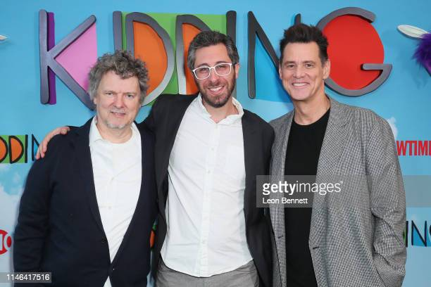 """Michel Gondry, Dave Holstein and Jim Carrey attend For Your Consideration Screening Of Showtime's """"Kidding"""" at Linwood Dunn Theater on May 01, 2019..."""