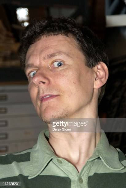 Michel Gondry during Mark Kostabi on Location for Name That Painting at Kostabi World in Soho May 5 2006 at Kostabi World in New York City New York...
