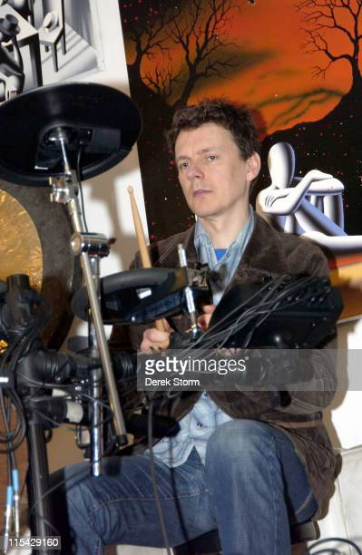 Michel Gondry during Mark Kostabi on Location for Name That Painting at Kostabi World in SOHO May 19 2006 at Kostabi World in New York City New York...