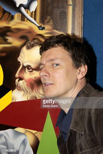 Michel Gondry during Mark Kostabi on Location for Name That Painting at Kostabi World in SOHO May 26 2006 at Kostabi World in New York City New York...