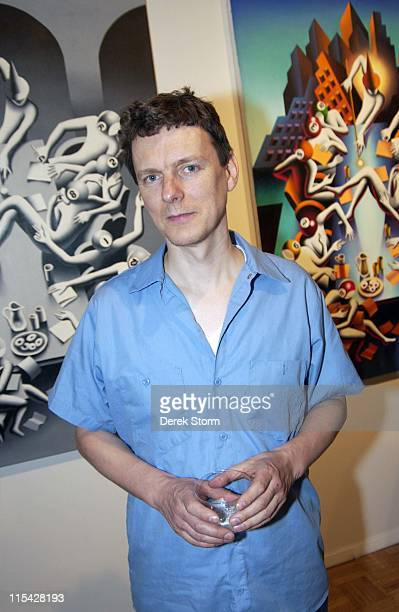 Michel Gondry during Mark Kostabi Opening Reception at Adam Baumgold Gallery at Adam Baumgold Gallery in New York City New York United States