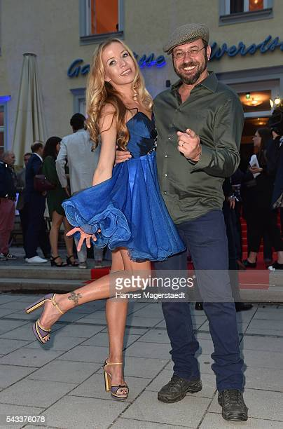Michel Guillaume and his wife Georgia attend the UFA Fiction Reception during the Munich Film Festival 2016 at Cafe Reitschule on June 27 2016 in...
