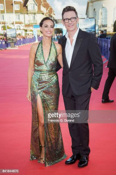 Michel Hazanavicius and Berenice Bejo arrive at the opening ceremony of the 43rd Deauville American Film Festival on September 1 2017 in Deauville...