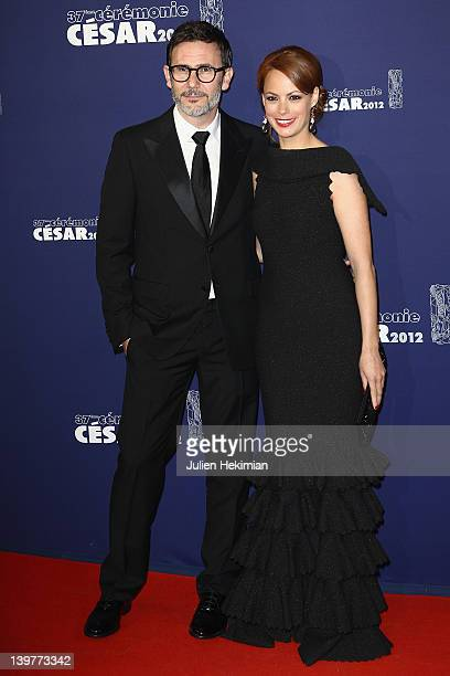 Michel Hazanavicius and his wife Berenice Bejo attend the 37th Cesar Film Awards at Theatre du Chatelet on February 24 2012 in Paris France