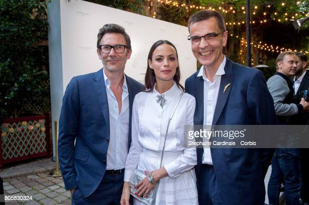"""Michel Hazanavicius, Berenice Bejo and Jean-Marc Mansvelt attends the """"Chaumet Est Une Fete"""" : Haute Joaillerie Collection Launch as part of Haute..."""