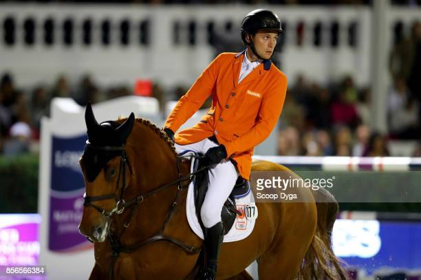 Michel HENDRIX of Netherlands riding Baileys during the Longines FEI Nations Cup Jumping Final at CSIO5 on September 30 2017 in Barcelona Spain