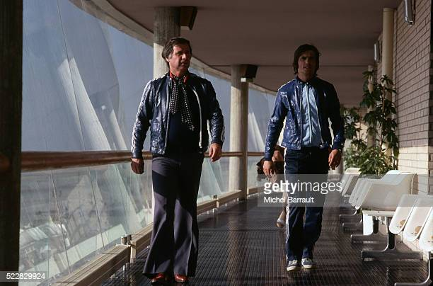Michel Hidalgo coach of France and Henri Michel of France during the stage of Team France at Le Touquet before the World Cup 1978 on 30th April 1978