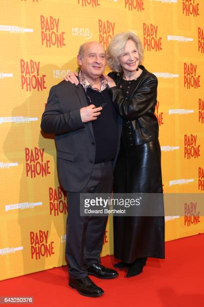 Michel Jonasz and MarieChristine Adam during Baby Phone Paris Premiere at Cinema UGC Normandie on February 20 2017 in Paris France
