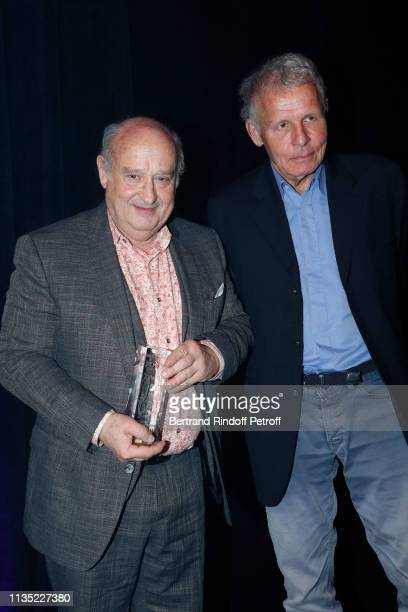 Michel Jonasz Gold Stethos category Theater and Patrick Poivre d'Arvor attend the Stethos d'Or 2019 Charity Gala of the Foundation for Physiological...