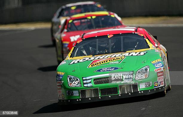 Michel Jourdain Jr drives the Roshfrans Ford during the NASCAR Busch Series TelcelMotorola 200 on March 5 2006 at Autodromo Hermanos Rodriguez in...