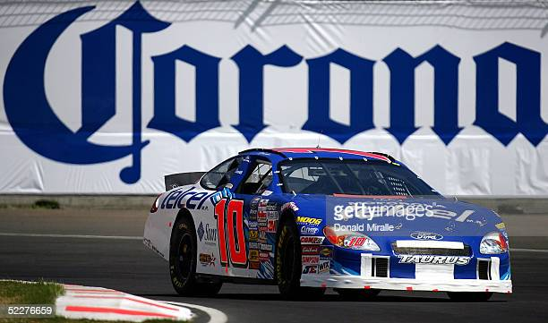 Michel Jourdain Jr. Of Mexico drives his Telcel Ford Taurus during the practice for the Telcel Mexico 200 Nascar Busch Series Race on March 4, 2005...