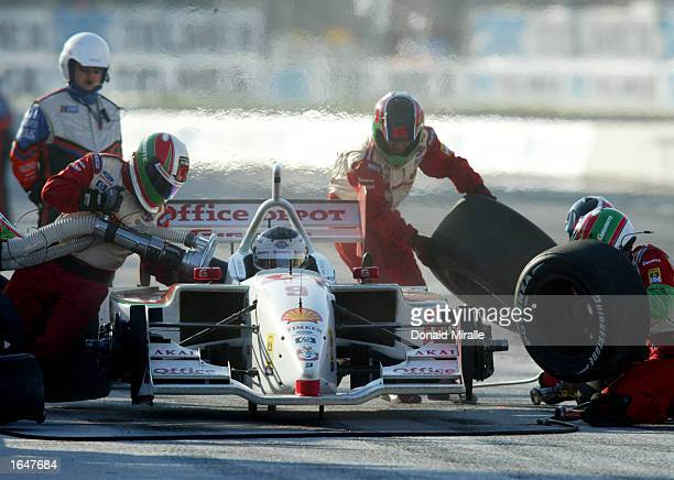 Michel Jourdain pits his Gigante Team Rahal Ford Lola during the Gran Premio GiganteTelmex round 19 of the CART Fed Ex Championship Series on...