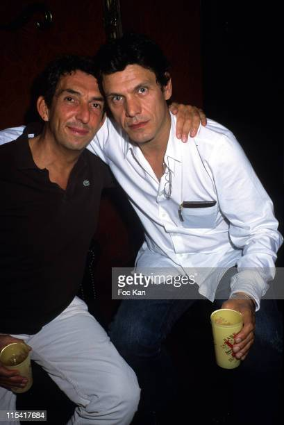 Michel Klein and Marc Lavoine during Ricky Powell Paris Photo Exhibition Preview Hosted by Colette After Party at The Milliardaire Club in Paris...