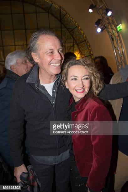 Michel Leeb and Christelle Chollet attend Michel Leeb 40 ans Theater Show at Casino de Paris on December 14 2017 in Paris France