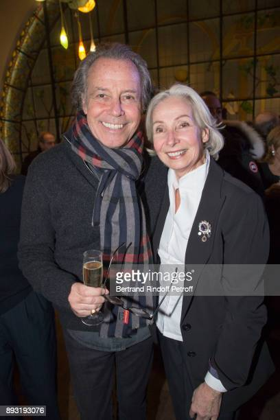 Michel Leeb and his sister Rejane Lafont attend 'Michel Leeb 40 ans' Theater Show at Casino de Paris on December 14 2017 in Paris France