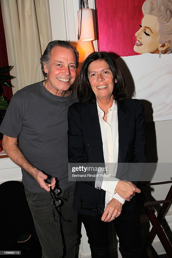Michel Leeb (L) and his wife Beatrice attend 'La Petite Maison De Nicole' Inauguration Cocktail at Hotel Fouquet's Barriere on January 22, 2013 in Paris, France.